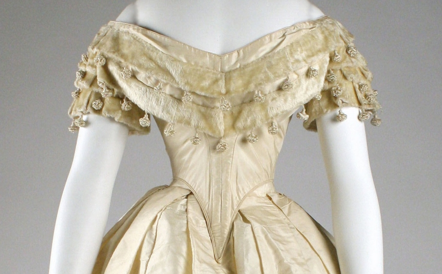 Mid 19th century ballgown bodices atelier nostalgia for 19th century wedding dresses
