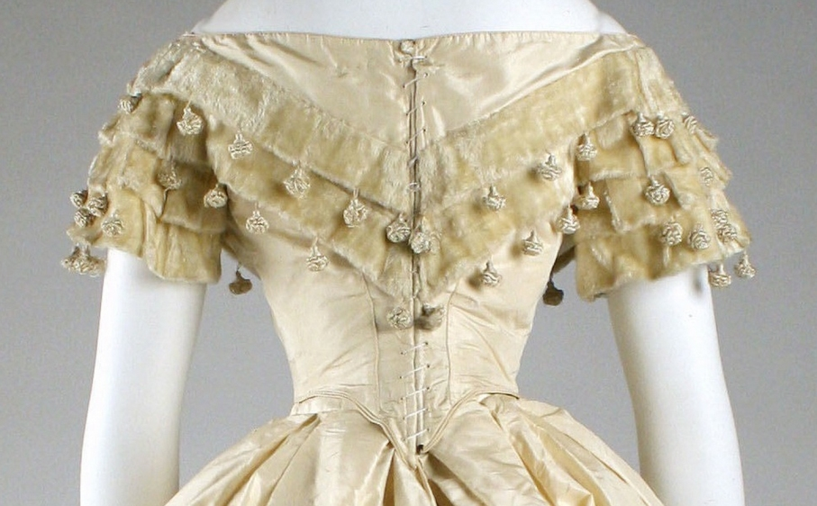 Dress Date: ca. 1860 Culture: American Medium: silk