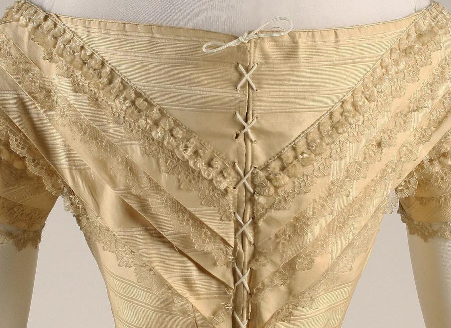 Wedding dress Date: 1859 Culture: American Medium: silk