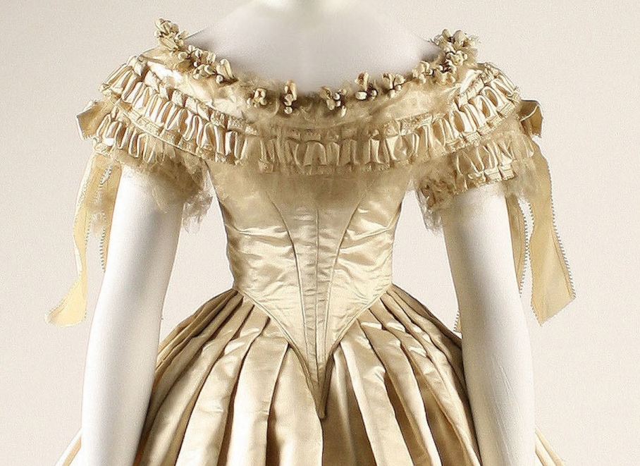 Wedding dress Date: 1855–62 Culture: American Medium: silk