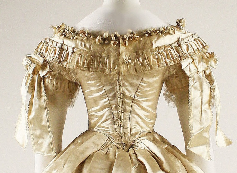 Wedding dress Date: 1855–62 Culture: American Medium: silk