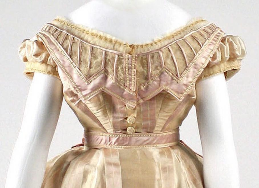 Dress Date: ca. 1865 Culture: French Medium: silk