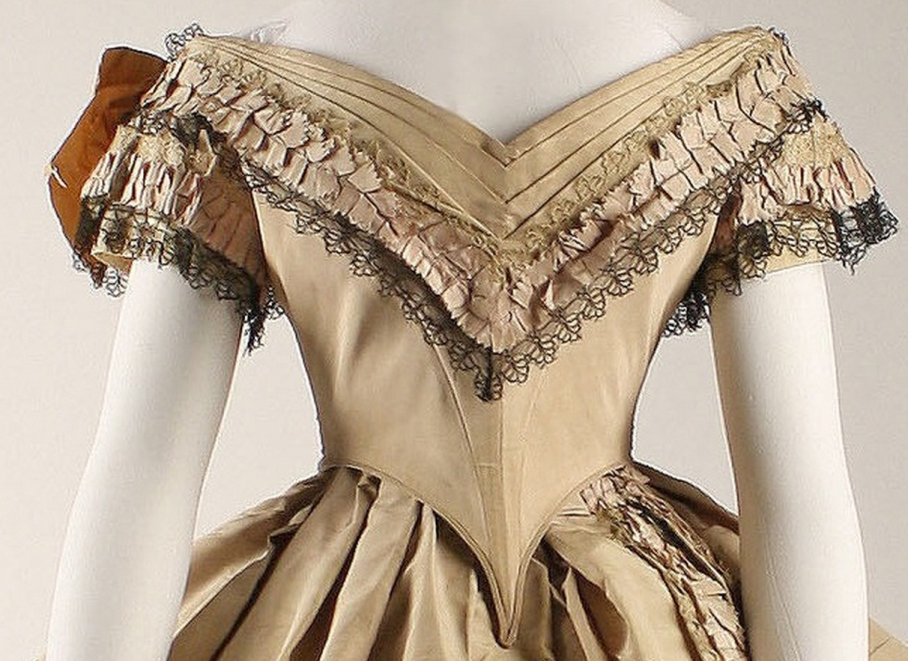 Dress Date: 1860–64 Culture: British Medium: silk