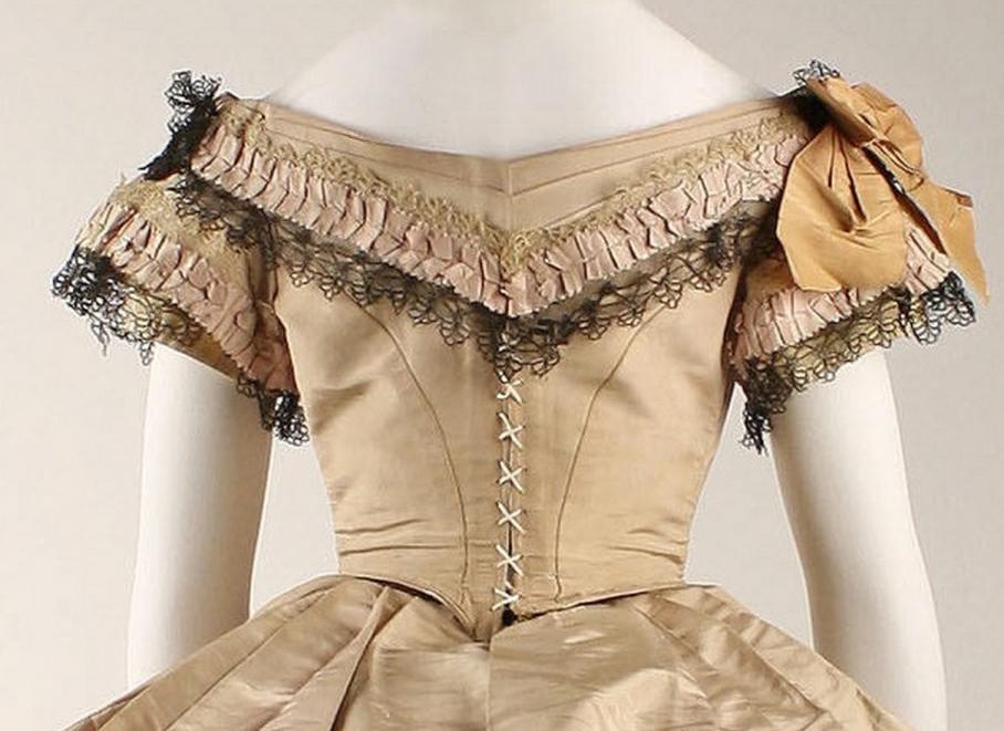 Dress Date: 1860–64 Culture: British Medium: silk