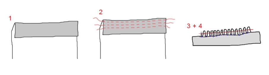 Cartridge pleats